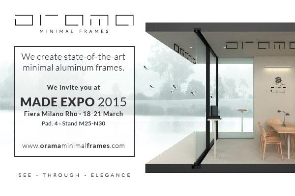 ORAMA @ Made EXPO, Milan